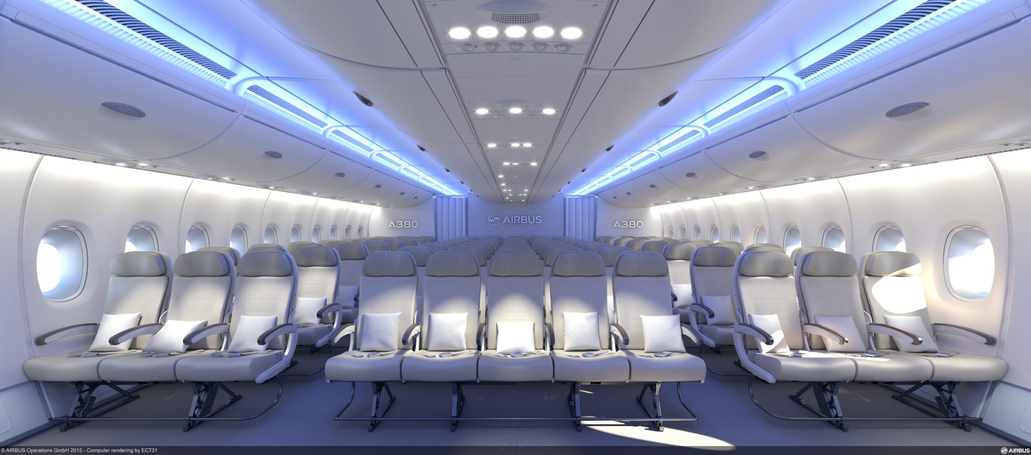New Home Interiors Design Airbus Expects 11 Abreast A380 To Attract New Breed Of