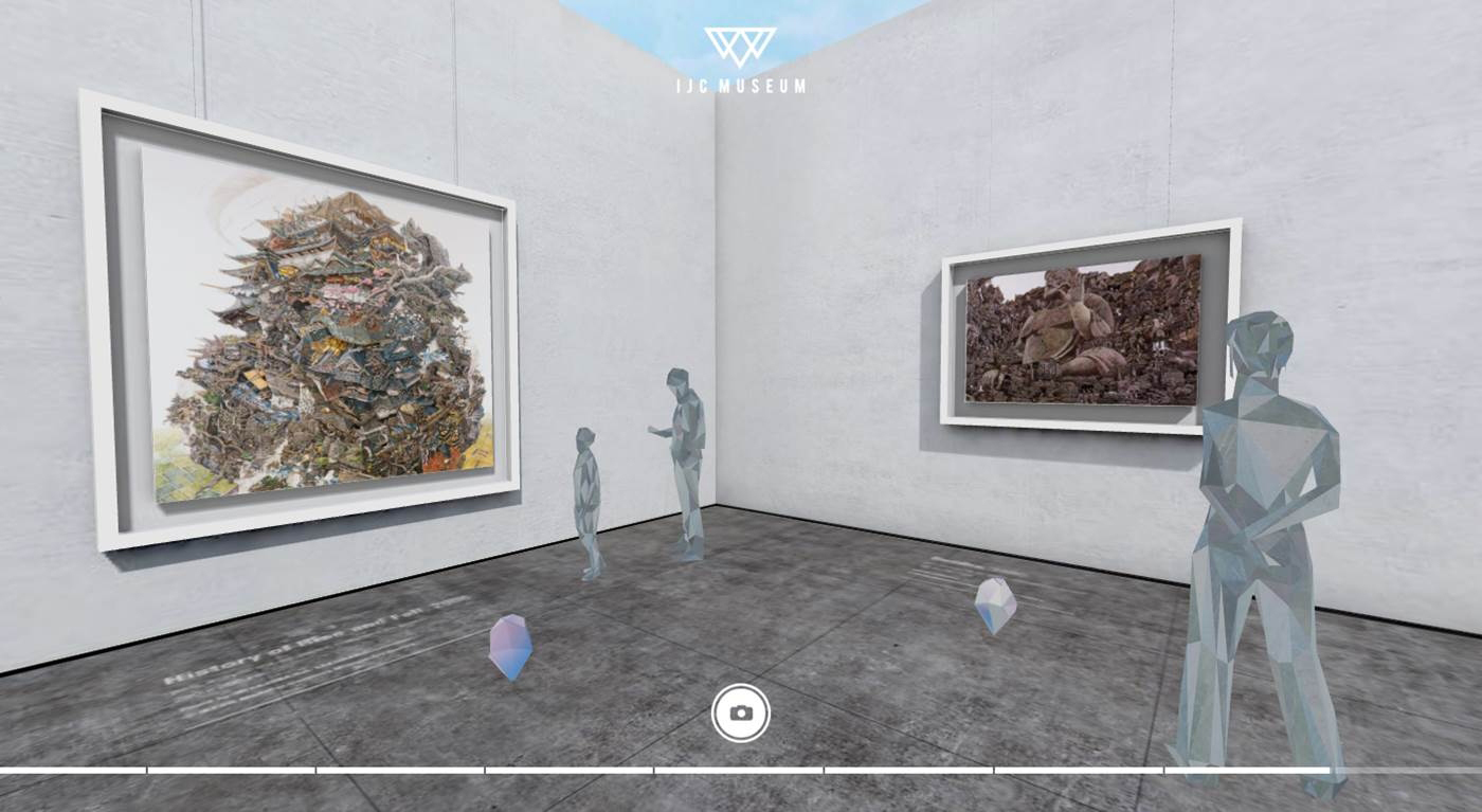 You can view the artwork from any direction (360') - graphic business wire