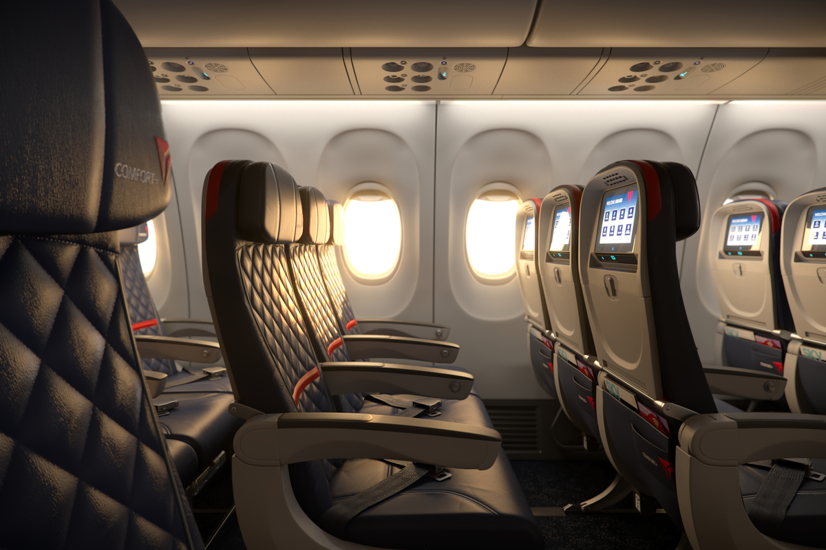 Middle seats are very often the least desirable and not always considered an upgrade regardless of the extra legroom. Image Delta