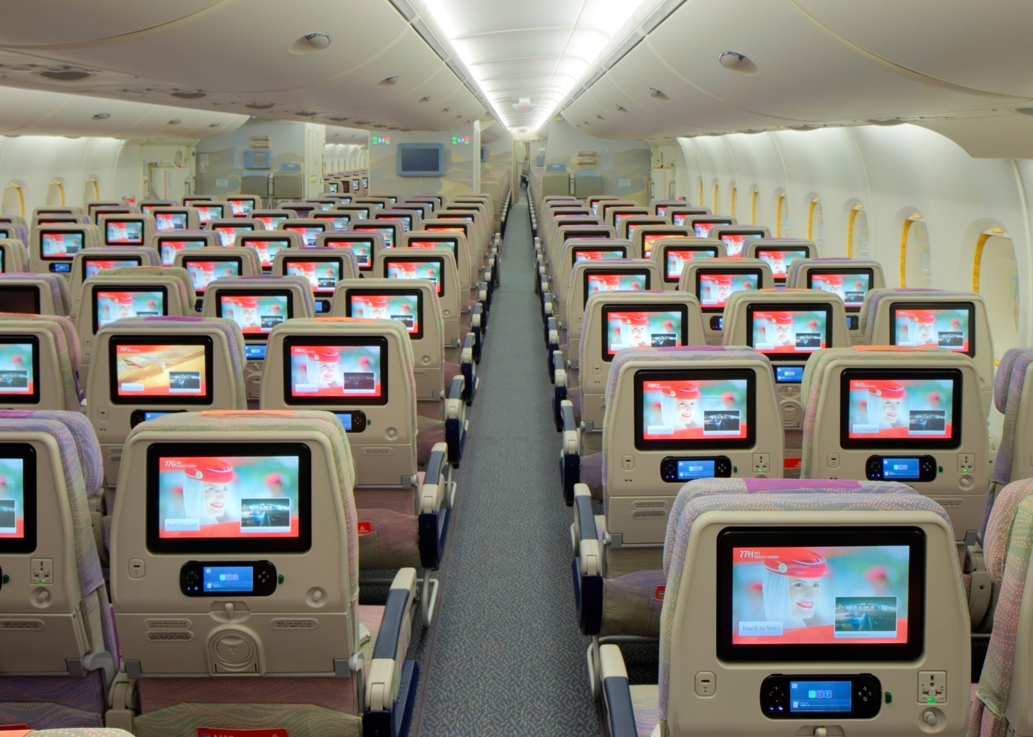 Emirates' A380 economy class is superior to its 777. Image: Emirates