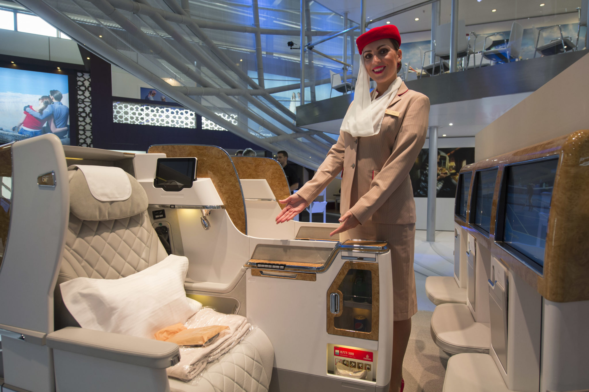 Emirates new business class seat is firmly below the passenger experience of its regional and global competition. Image: Emirates