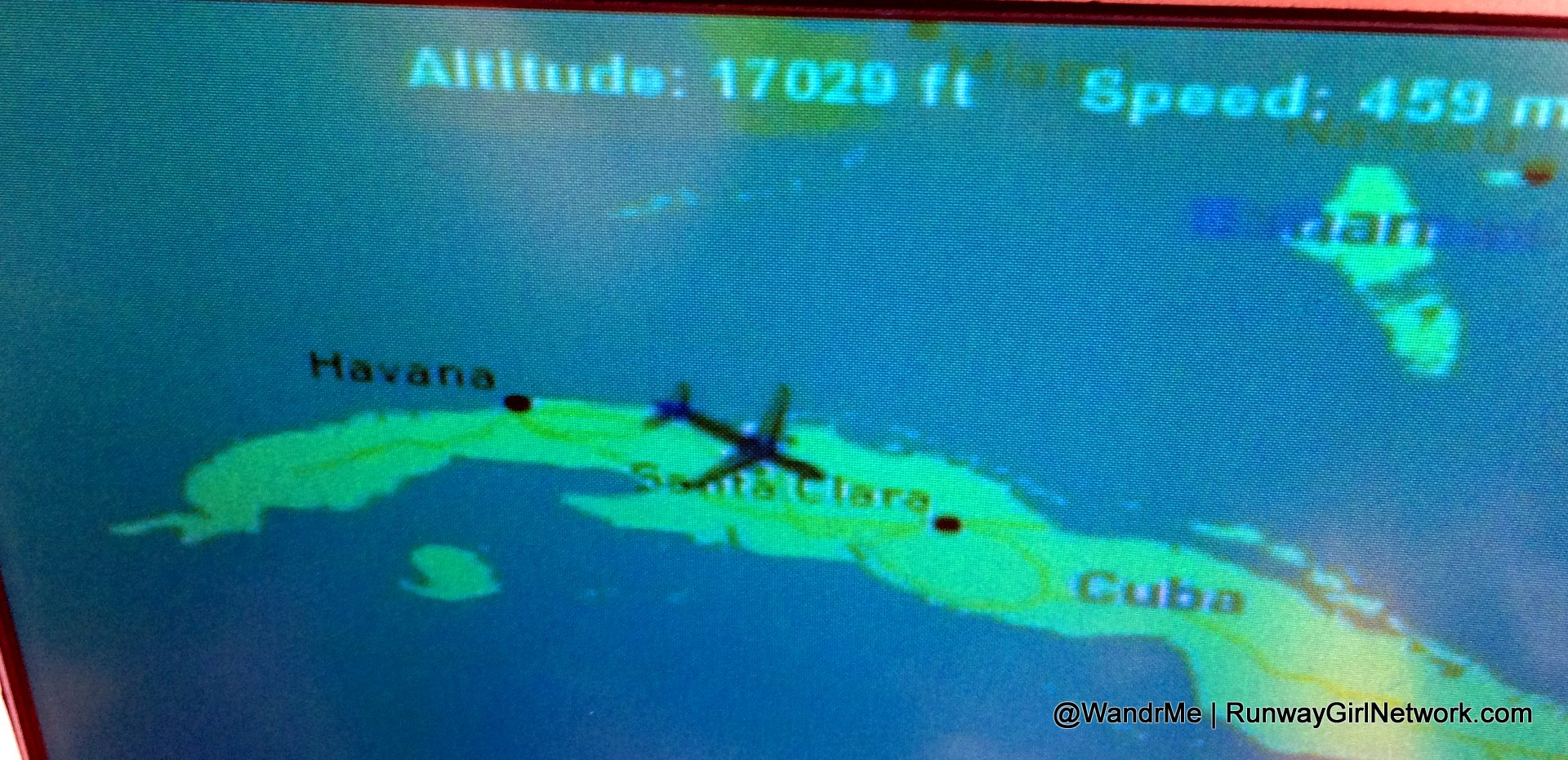 Watching Our Progress On The In Flight Map For Jetblue S Inaugural From Fort Lauderdale To