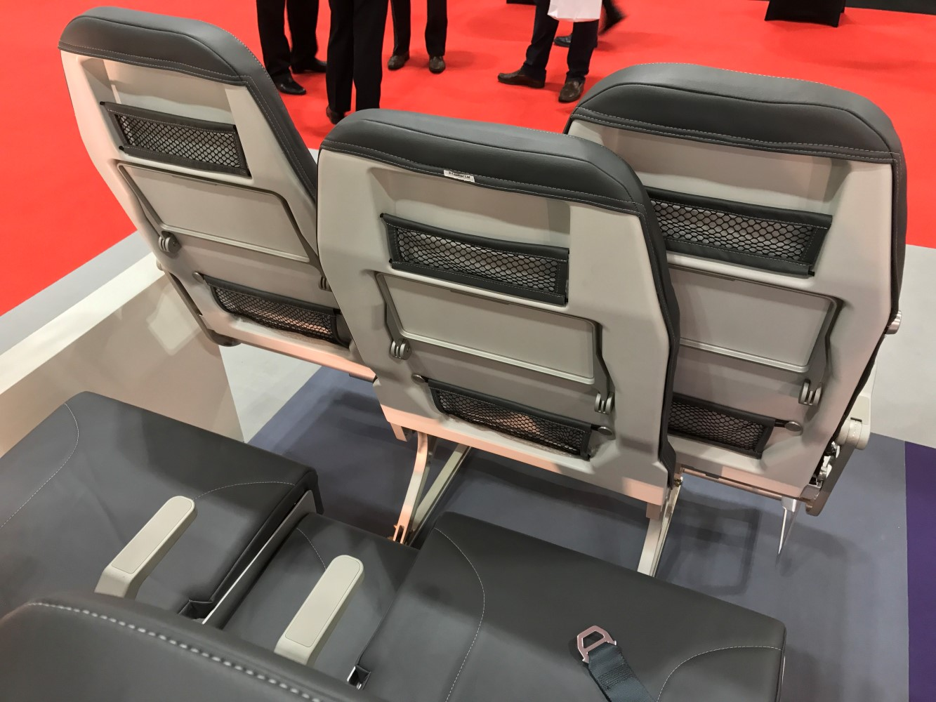 The stagger and wider centre seat backrest goes some way to giving the middle seat a bit of a boost. Image: John Walton