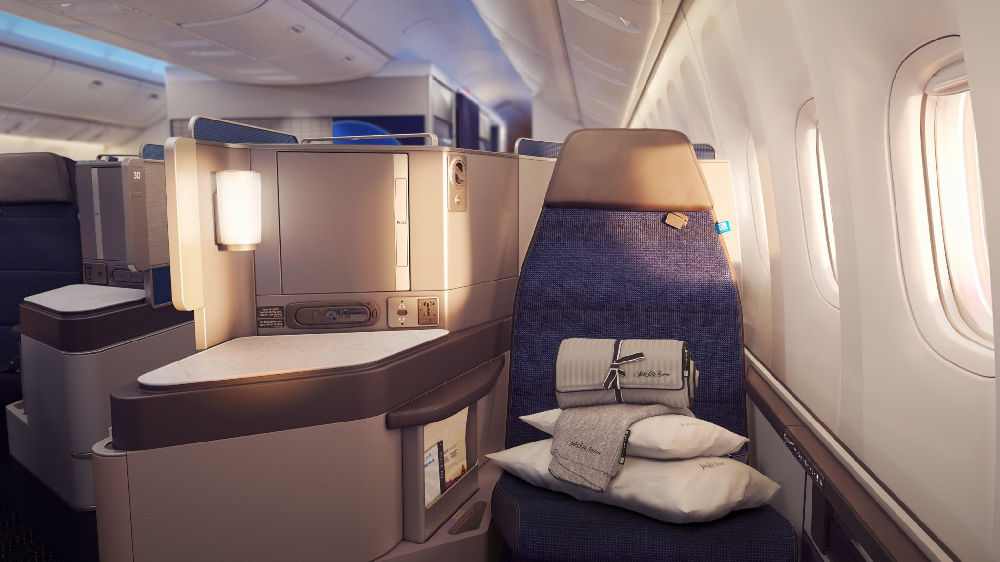 Business class passengers want to arrive well rested on longhaul overnight flights. Image: United