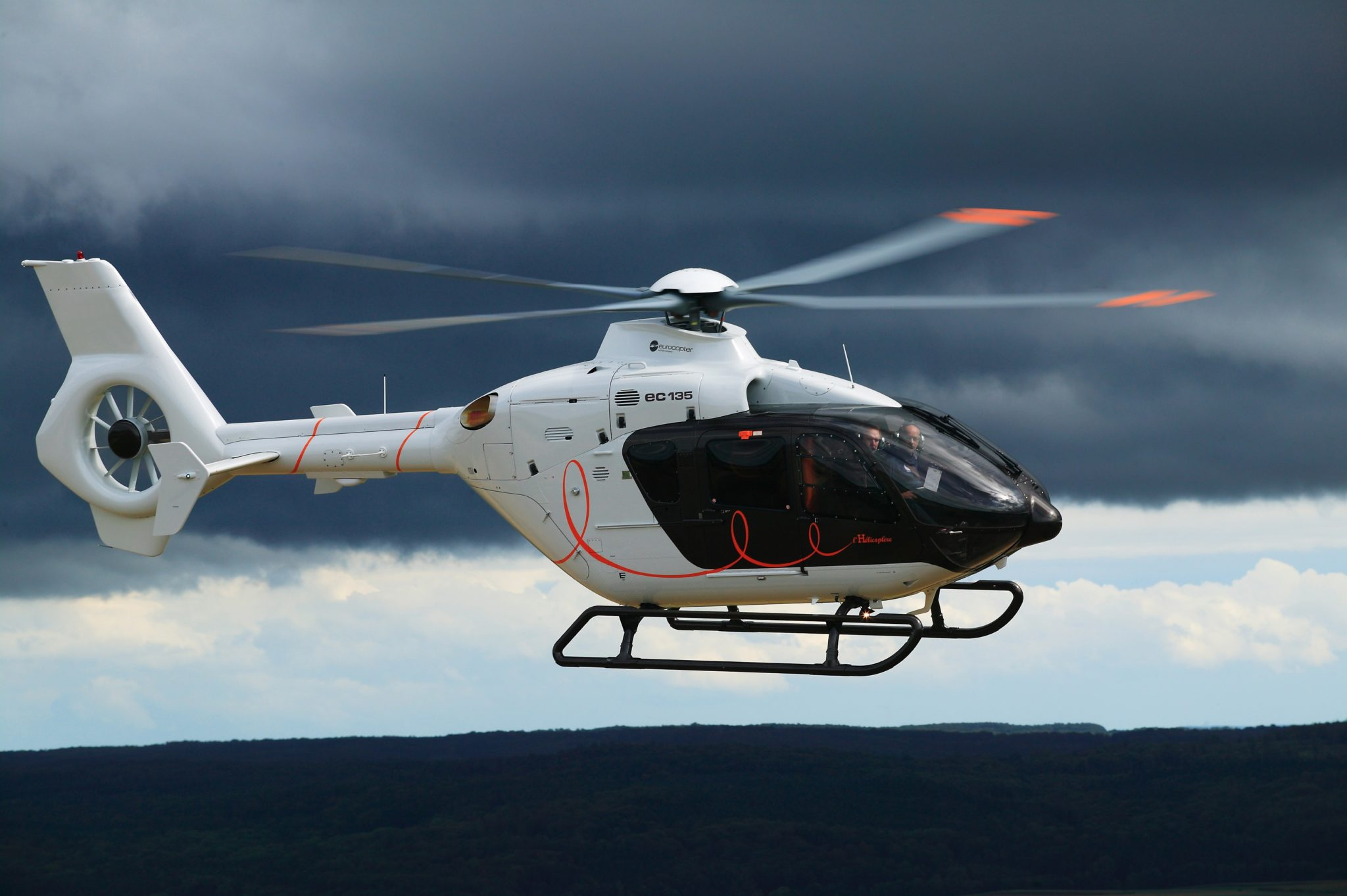Although it shows the helicopter in its previous EC135 guise, this aircraft represents the Hermès fit. Image: Airbus