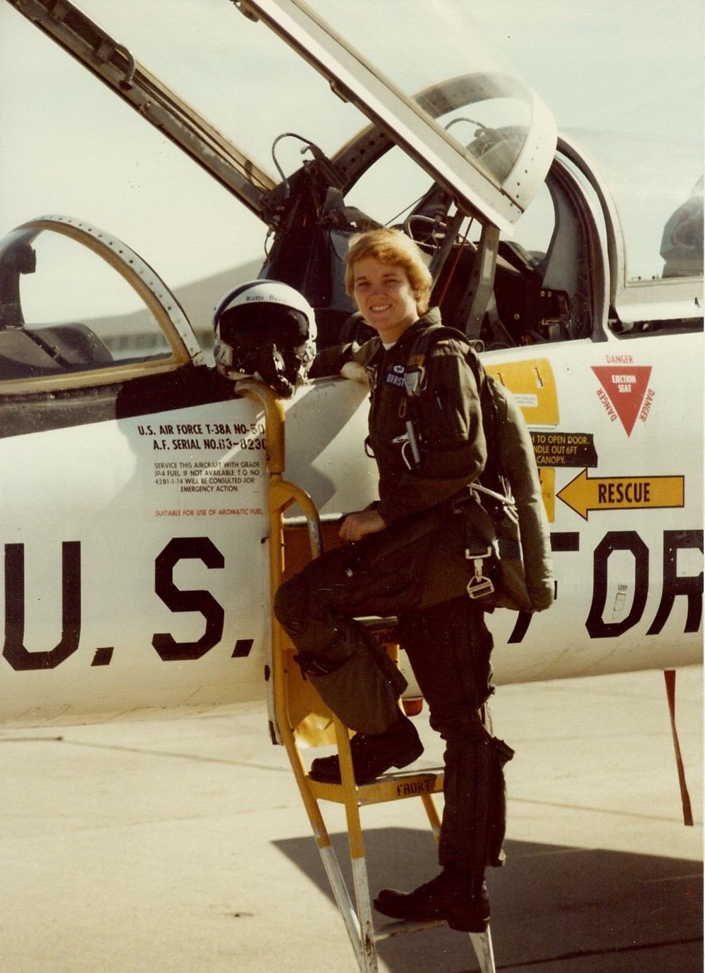 Durst flew the T 38 during her Air Force career. Image: Kathi Durst