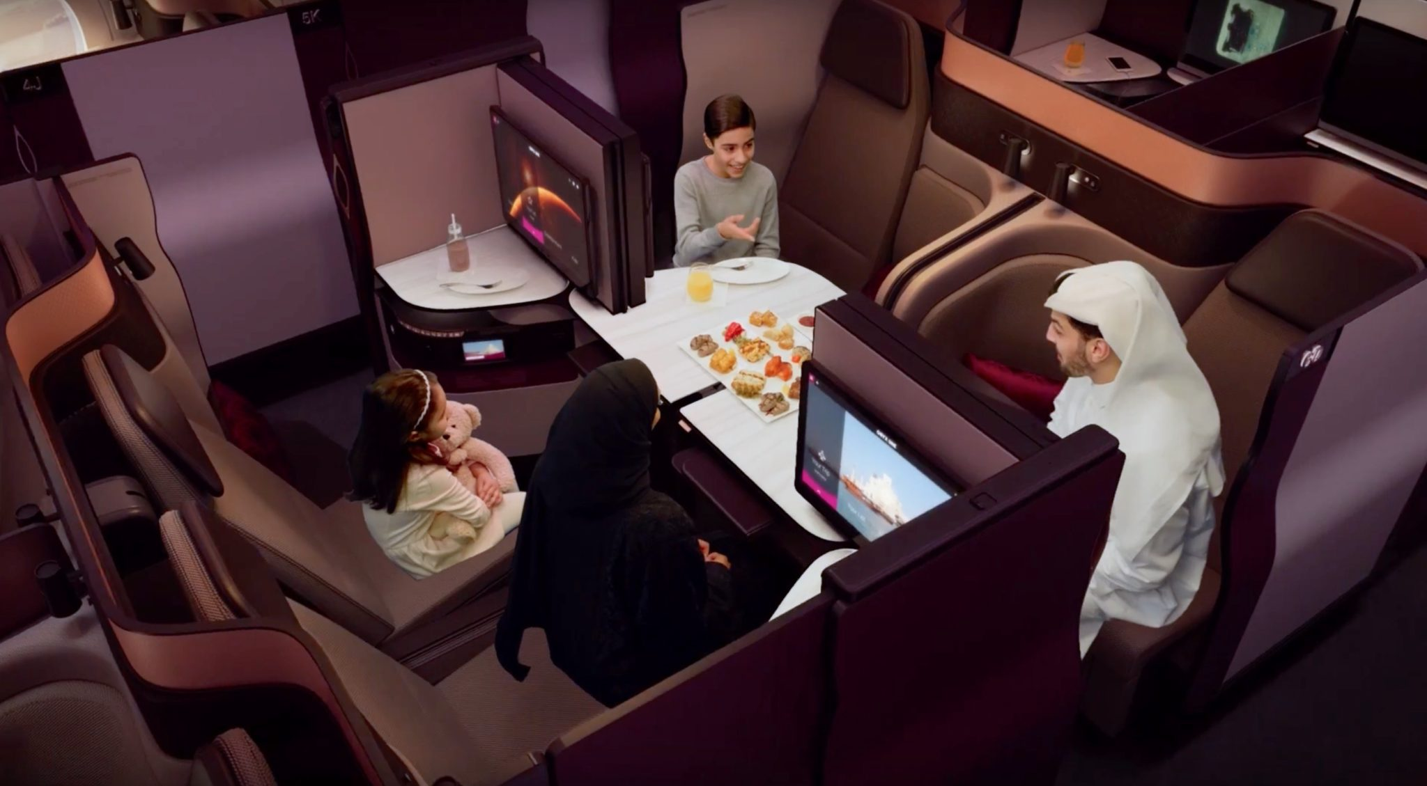 Qatar fires across Etihad's bows with four-person Qsuite